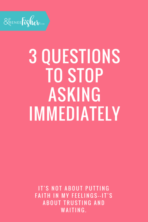 3 Questions to Stop Asking Immediately