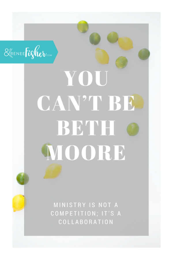 You can't be Beth Moore