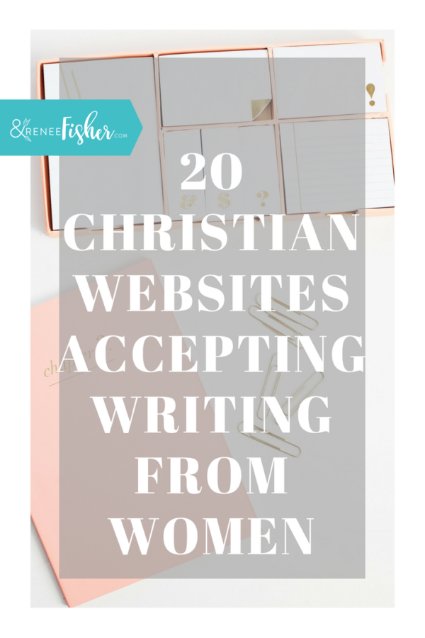 20 Christian Websites Accepting Writing From Women