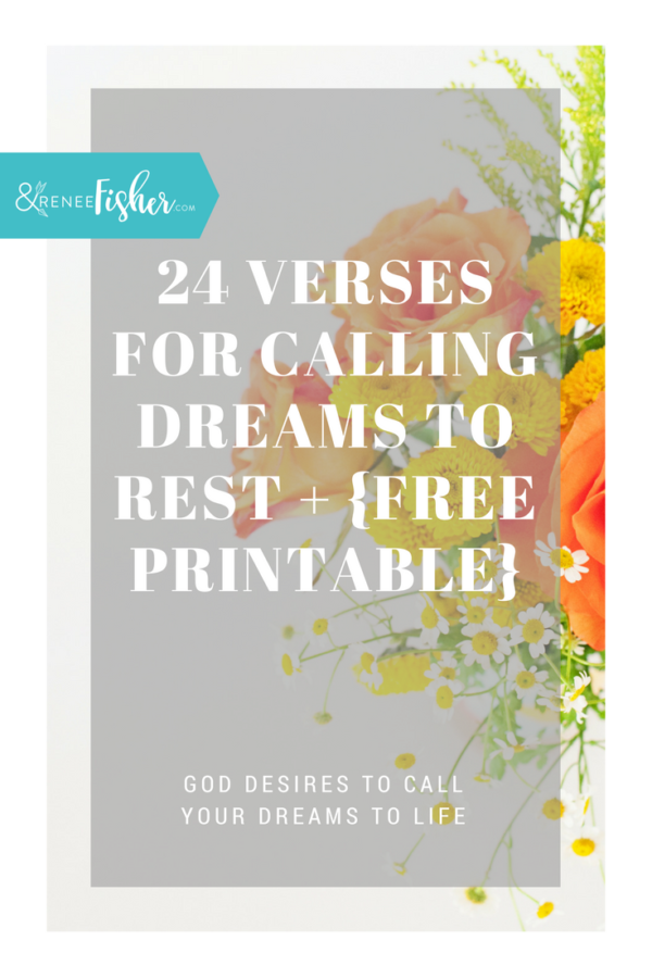 24 Verses for Calling Dreams to Rest + {Free Printable}